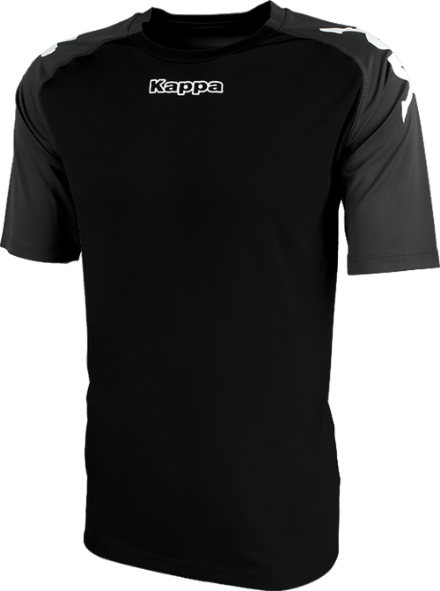 Paderno Match Shirt SS Black / Dark Grey
